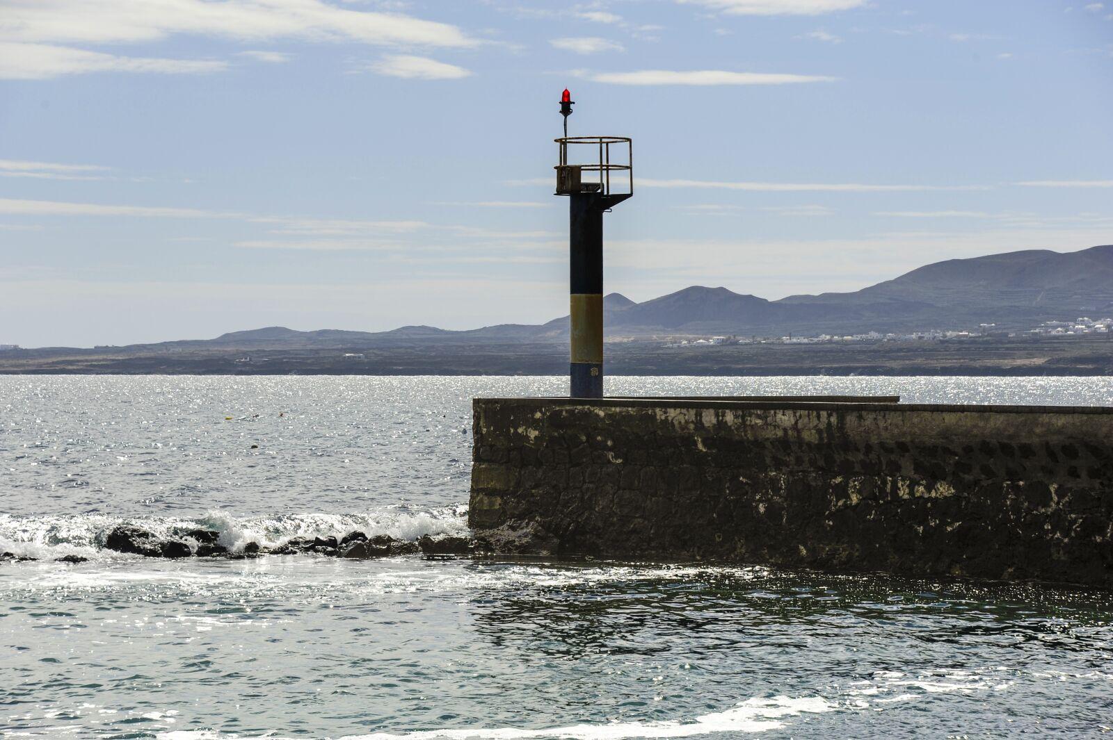 "Nikon D700 sample photo. ""Lanzarote, port, lighthouse"" photography"