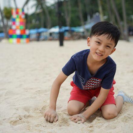 child, sha, beach, Sony ILCE-7M2