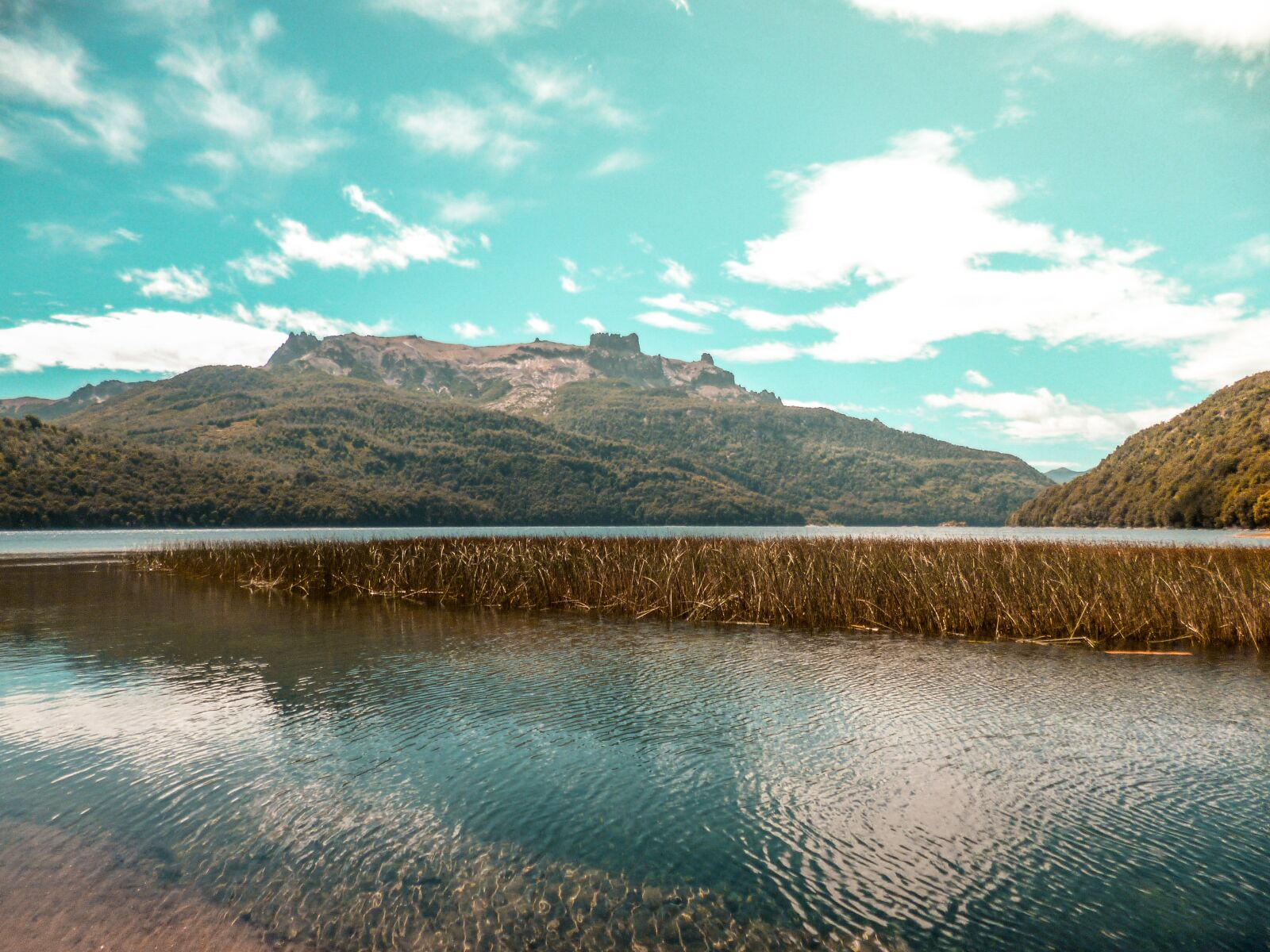 mountain, lake, nature