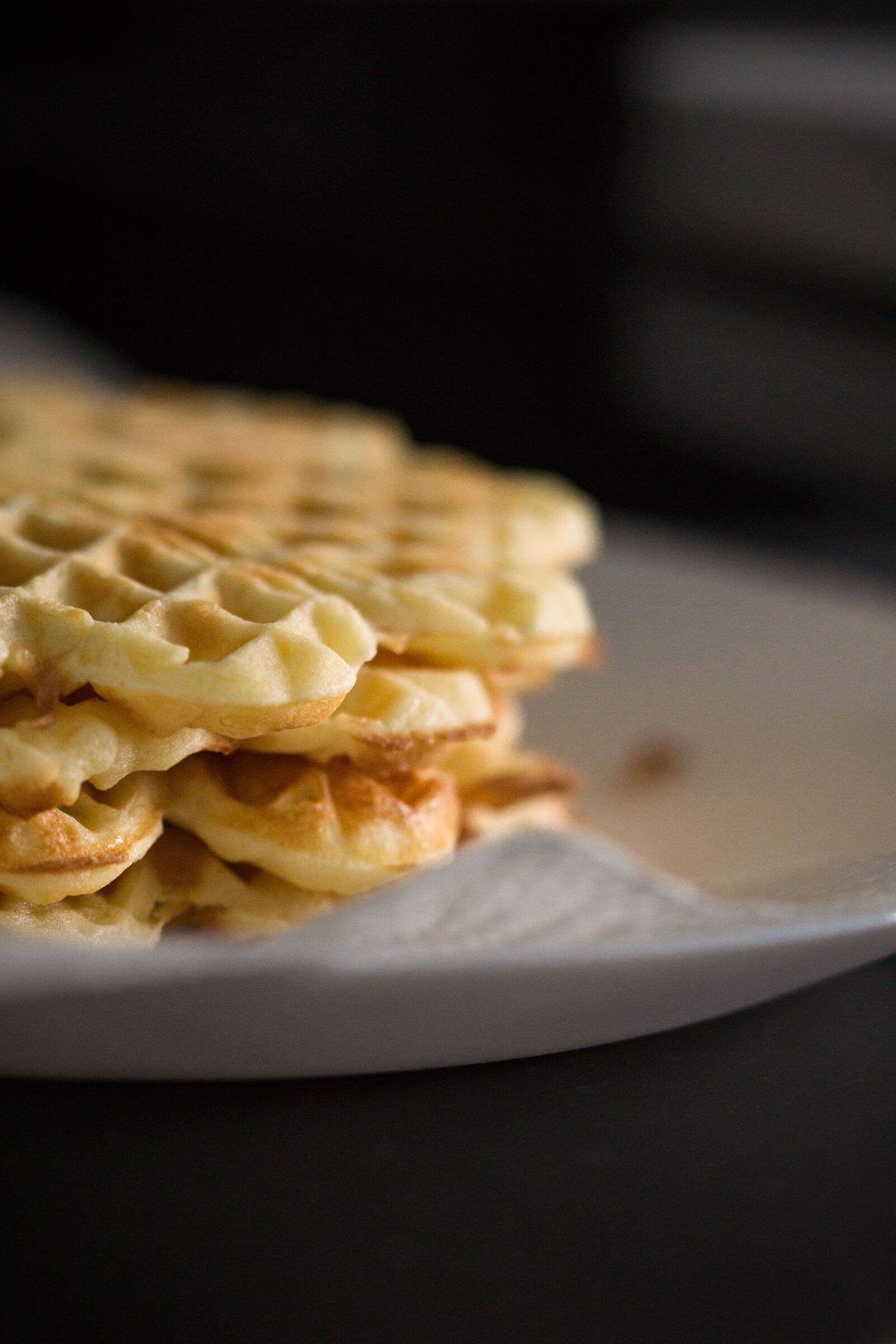 "Sony a6000 sample photo. ""Waffles, eat, bake"" photography"