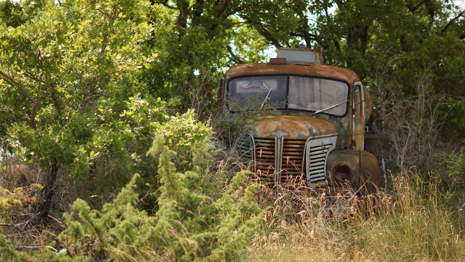 "Sony Alpha NEX-7 sample photo. ""Truck, abandoned, fallow"" photography"