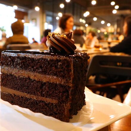 restaurant, cake, food, Canon EOS M6