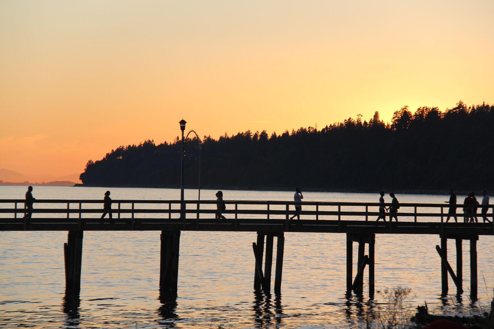 "Canon EOS 60D sample photo. ""Silhouette, sea, pier"" photography"