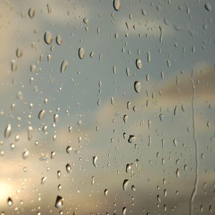drops, sun, water, window, Nikon D50