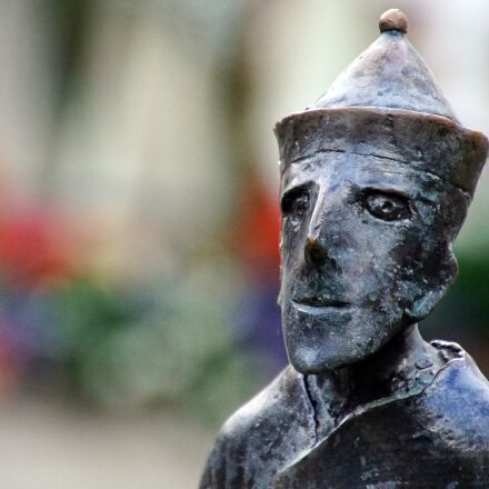 friar, statue, bronze, Sony ILCE-7M2