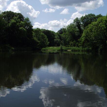 reflection, clouds, sky, Fujifilm FinePix S1850