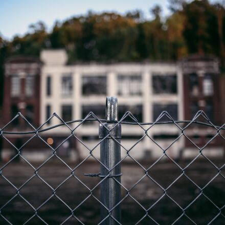 building, fence, macro, Canon EOS 6D