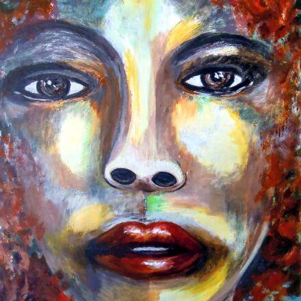 painting, portrait, acrylic paint, Nikon COOLPIX S5100