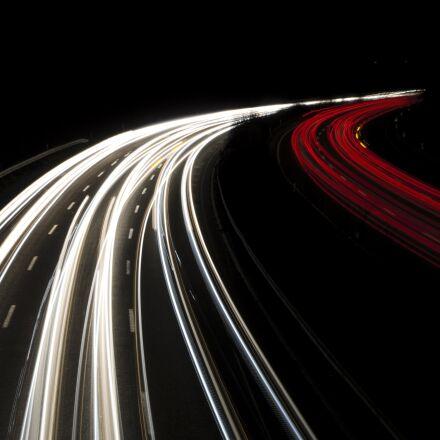traffic, long exposure, night, Pentax K-30