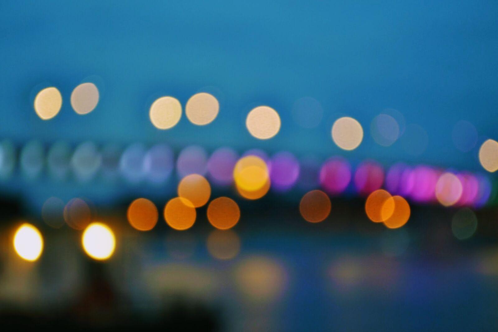 "Nikon D3100 sample photo. ""Bokeh, bridge, circles, dark"" photography"