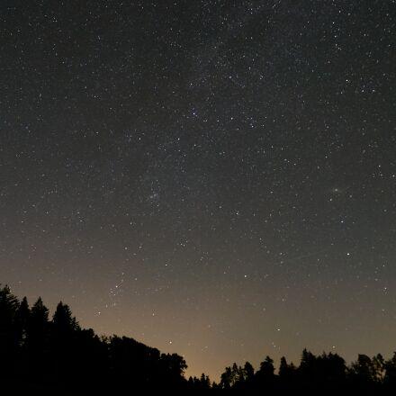 star, starry sky, night, Fujifilm X-T20