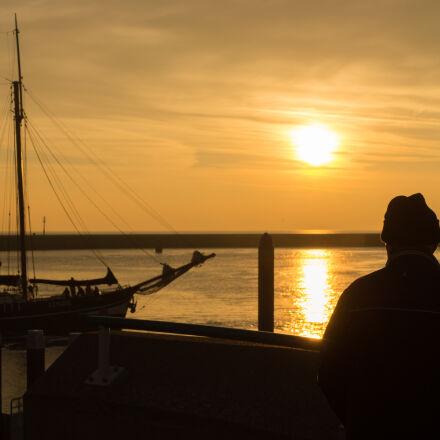 sea, sunset, sun, orange, Sony SLT-A58