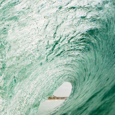 water, green, wave, Nikon 1 AW1