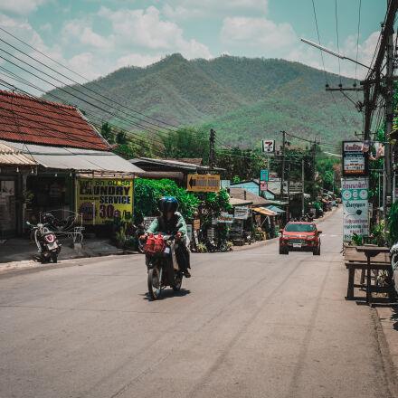 moped, mountain, paved, road, Fujifilm X-T10