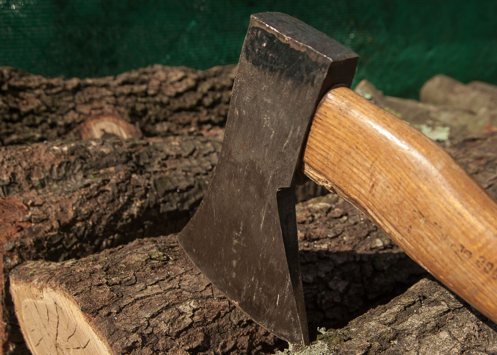 "Pentax K10D sample photo. ""Wood, axe, heating"" photography"