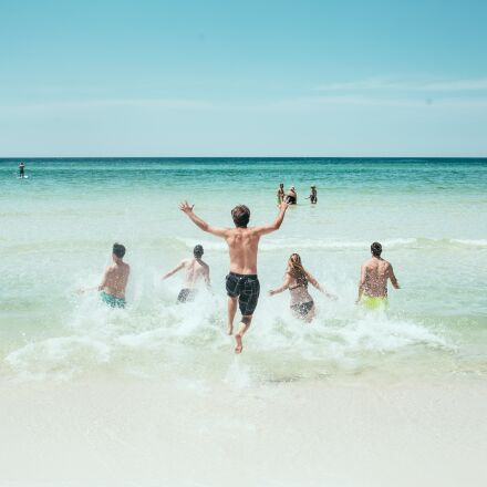 beach, ocean, running, Canon EOS 6D