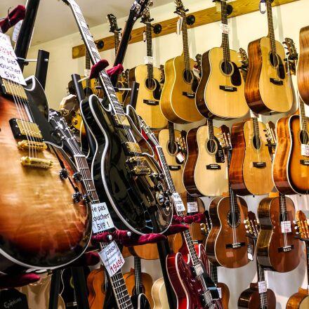 guitar, store, rock, Panasonic DMC-GH1