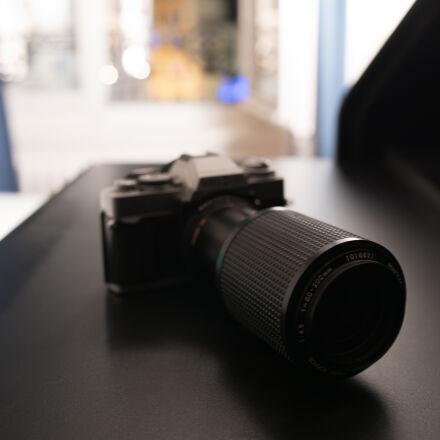 blur, camera, desk, lens, Nikon D750