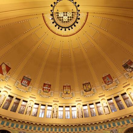 ceiling, colour, dome, prague, Canon EOS 5D MARK II