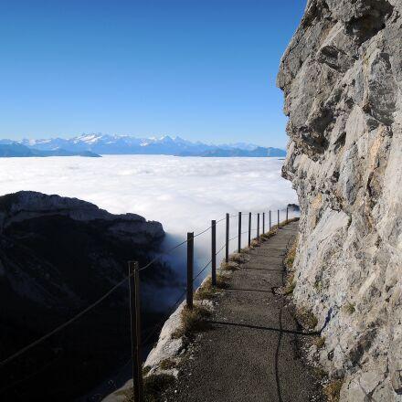 sea of fog, mountains, Nikon COOLPIX P310