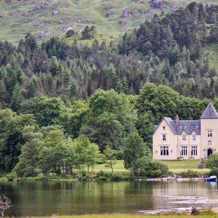 scotland, lake, house, Nikon D40