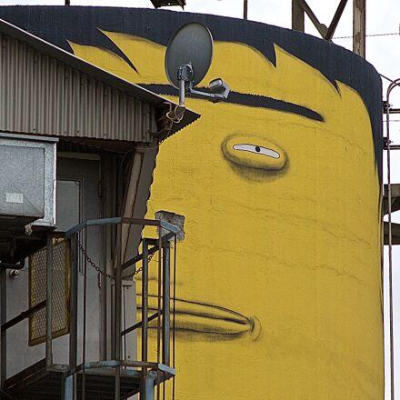 suspicious, concrete, silo, Nikon D7000