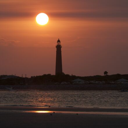 lighthouse, sunset, beach, Panasonic DMC-GH1