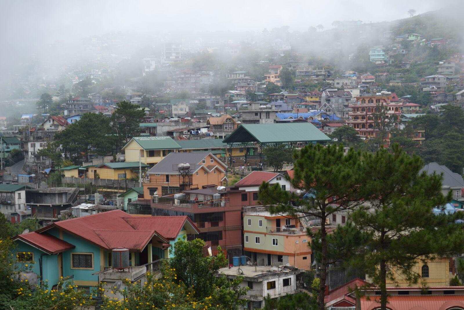 """Nikon D3100 sample photo. """"Baguio, house, mountain"""" photography"""