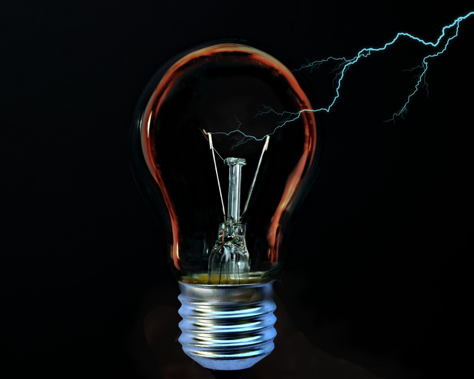 light bulb, current, flashes