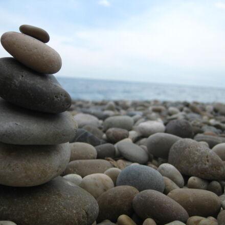 pebble, beach, pebbles, sea, Canon DIGITAL IXUS 85 IS
