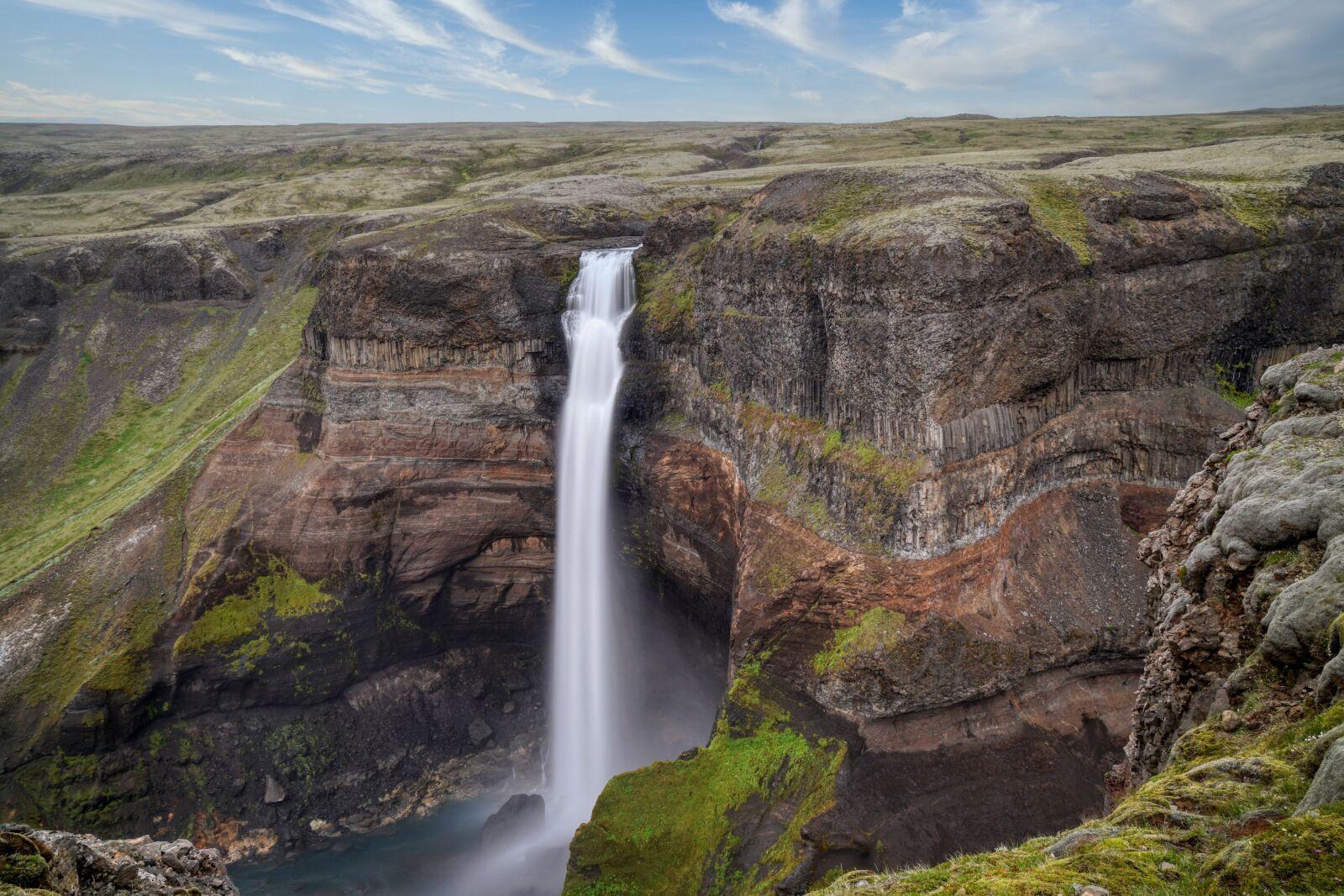 "Sony a6500 sample photo. ""Waterfall, plateau, mountain"" photography"
