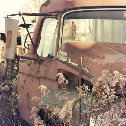 old, car, wreck, Canon EOS REBEL T3I