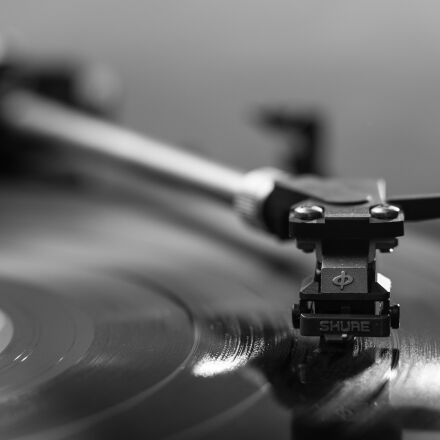 black, vinyl, player, Nikon D7100