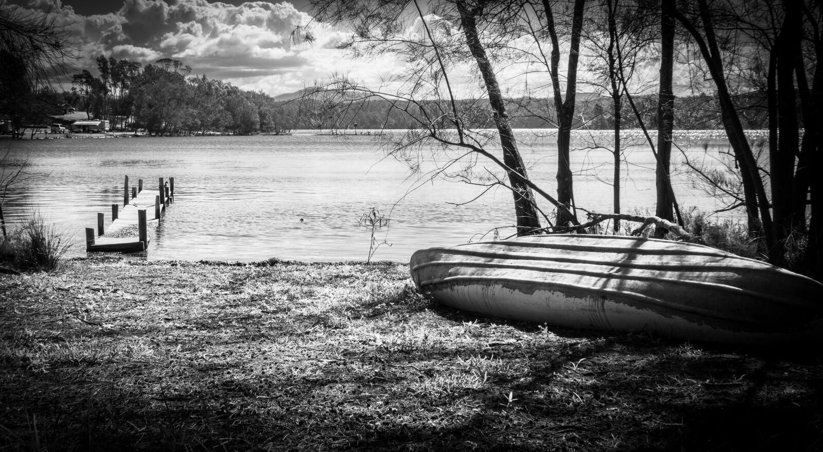 "Sony Alpha NEX-7 sample photo. ""Boat, pier, lake"" photography"