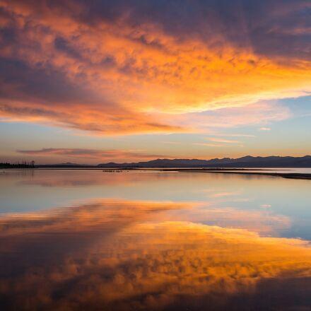 sunrise, yellowstone lake, sky, Canon EOS 5D MARK III