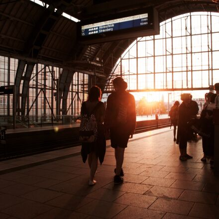 berlin, couple, sunset, train, Sony NEX-5