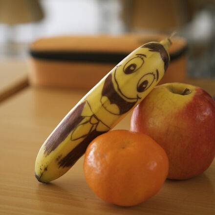 apple, banana, eye, eyes, Canon EOS 1100D