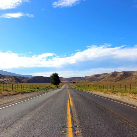 road, sky, car road, Canon EOS 100D