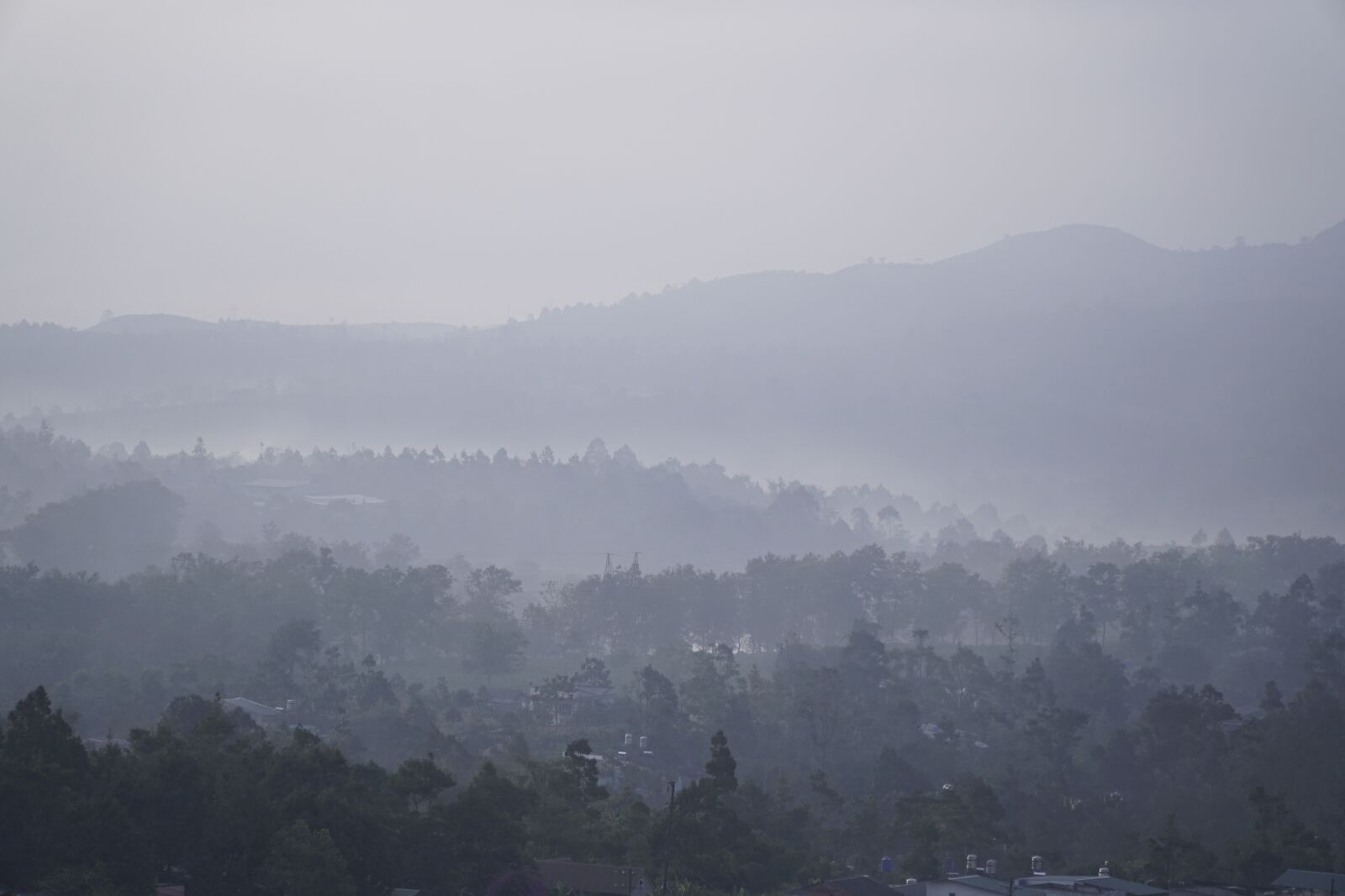 """Sony a6300 sample photo. """"Fog, mountains, forest"""" photography"""
