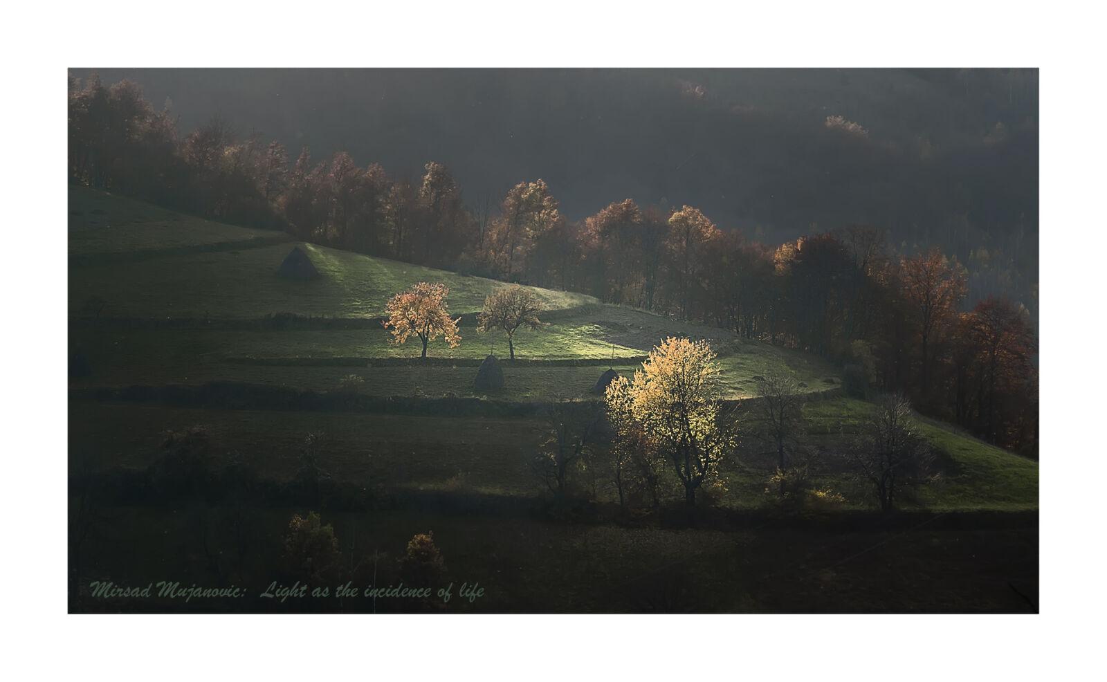"Nikon D5100 sample photo. ""Back, light, mountain"" photography"