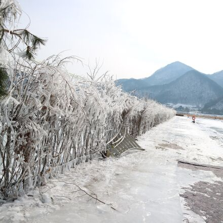 winter river, chaoyang steel, Canon EOS M3