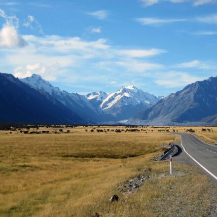 mount cook, mountains, southern, Canon POWERSHOT A1200