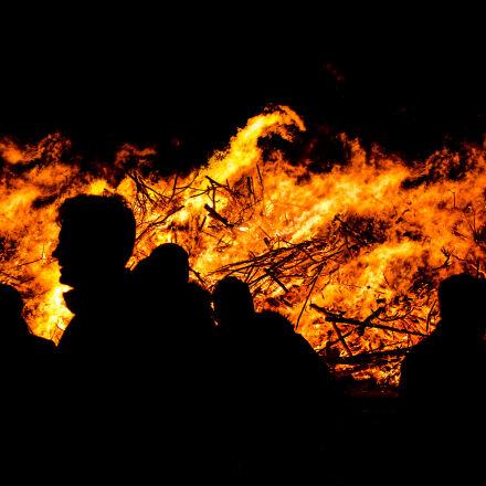people, night, fire, hot, Nikon D7000