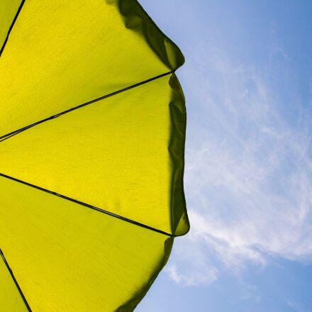 parasol, sun protection, blue, Nikon 1 V2