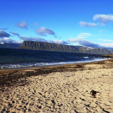 beach, mountains, sea, Nikon COOLPIX S570