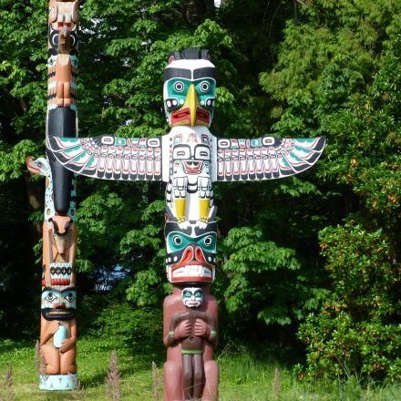 native american, totem, poles, Panasonic DMC-TZ30