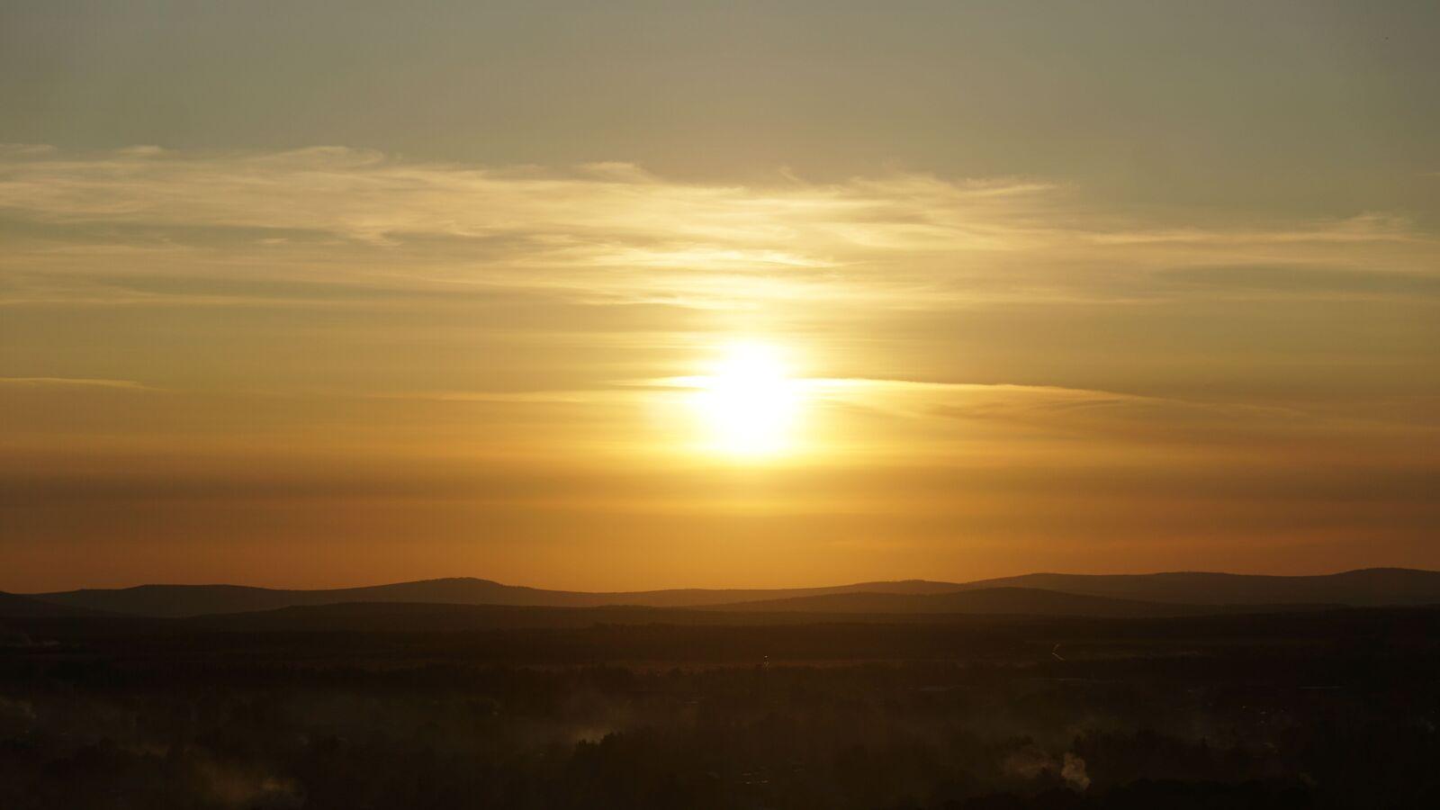 """Sony a6000 sample photo. """"Sunset, sun, sky"""" photography"""