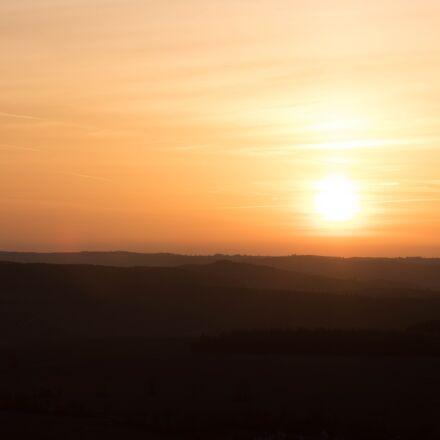 sun, evening, sky, Canon EOS 80D