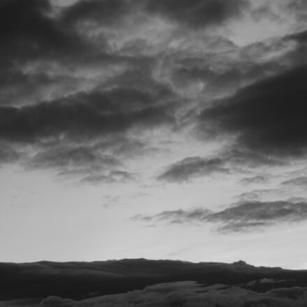 clouds, sky, gray, Sony DSC-W90