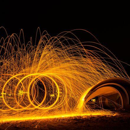 light painting, color, sparks, Pentax K-5